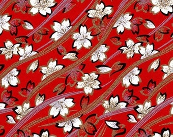 Origami Paper Pack - Traditional Japanese Yuzen/Chiyogami Paper in 6 Inch by 6 Inch (15 cm) Size - Crimson Courage Pattern