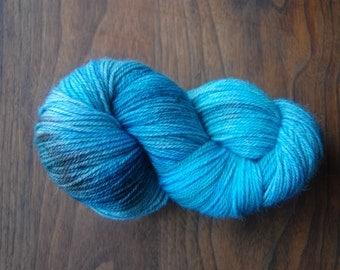 Alpaca Merino Yarn Hand Dyed Ocean Blue