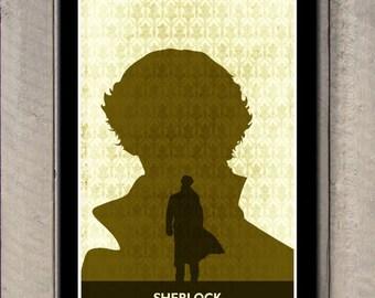 Sherlock 11X17 Print, Sherlock BBC Minimalist poster