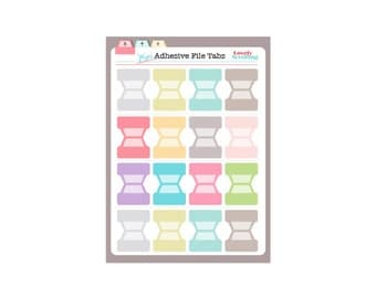 Mini Adhesive Tabs for Planner or files