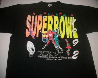 1992 NFL Superbowl 26 t-shirt  size mens' XL