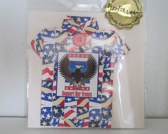 Support Our Troops Origami Greeting Card
