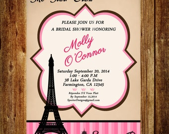 Parisian Bridal Shower Invitation