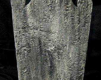 Blank Weathered Stone Tombstone Cemetery Prop Graveyard Decoration Vampire Mummy Graveyard Costume Zombie