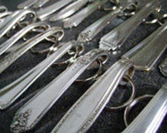 Wholesale Lot - 10 Silverplate Keychains, Wholesale Keychains, Silverplate Keychains, Keyrings, Keyfobs, Repurposed Accessories, NuForm Keys
