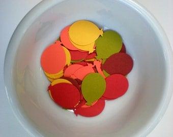 100, 150, 200, 250, 300 Balloon fall colored punch die cut embellishments- birthdays, fall celebration, bridal shower, fall wedding