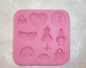 girly mold hearts dress form silicone mold resin mod melts clay scrapbooking
