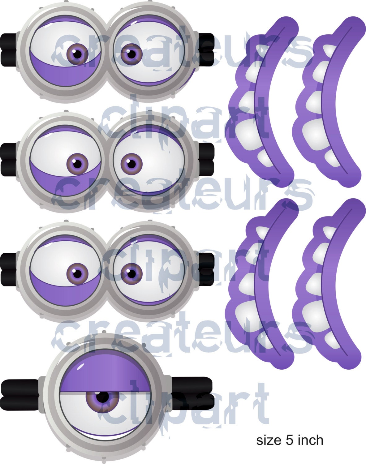 instant download evil minion goggles mouth