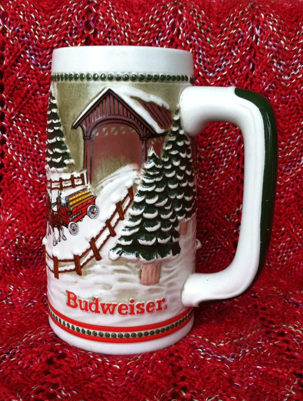 Budweiser Christmas Stein