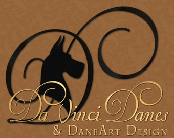 Graphic Designer For Hire To Make Custom Logos For Great Dane & Other Breeds By DaneArt Design