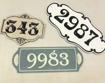 House Number Sign Plaque Choices