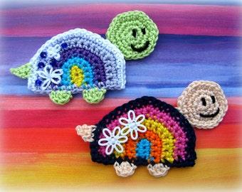 Crochet Turtle Appliqué Pattern