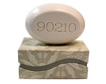 Soap Sentiments - Personalized Scented Soap Bar Engraved with 90210