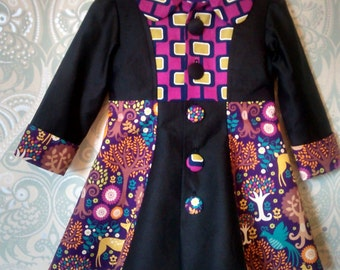 SAMPLE...Handmade 3yr old girls couture coat.