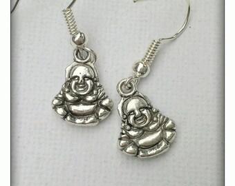 Laughing buddah earrings
