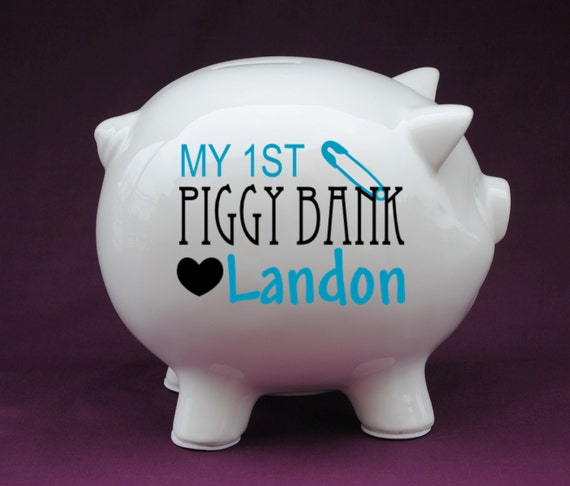 Baby S My 1st Piggy Bank Personalized Piggy Bank With