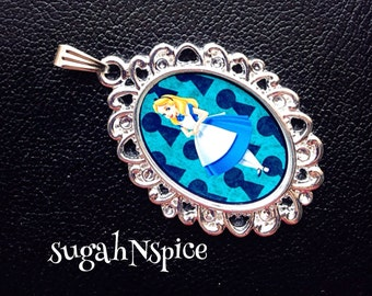 Disney's Alice in Wonderland Necklace Pendant Wonderland Necklace Wonderland Jewelry