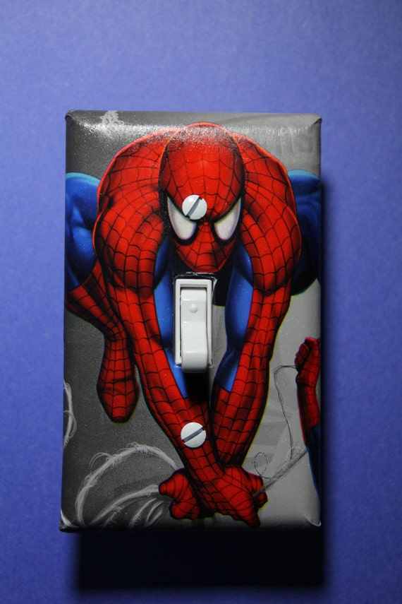Https Www Etsy Com Listing 195259435 Spiderman Light Switch Plate Cover Comic
