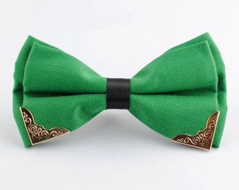 Silk Bow Tie.Mens Bow Tie.Wedding Bow Tie.Green Bow Tie  With Phnom Penh for Wedding