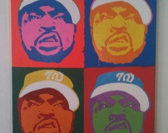 Andy Warhol Pop Art Style of Rapper Ice Cube