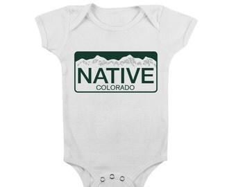 Colorado Native Baby Infant Onesie.