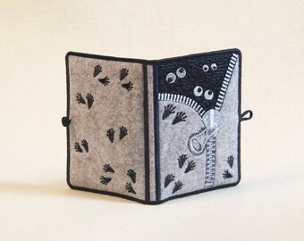 """Embroidered USB Flash Drive Keeper/ Case/ Holder  """"Boo!"""""""