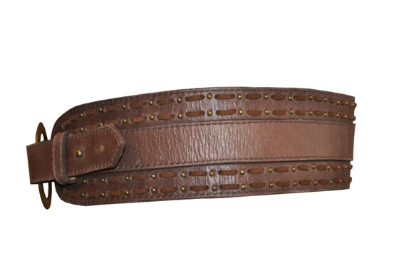 s leather belt brown distressed by sofianlillysboutique