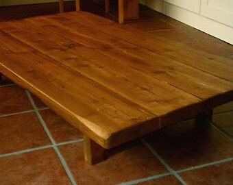 Hand Made Rustic Coffee Table - Low Design 030