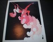 """ERTE 1984 Collections of  Art Nouveau - """"At The Theatre - Trapeze"""" - Vintage  Print"""