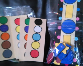 pattern boards in bold colors to help children understand patterning. Perfect for preschool math