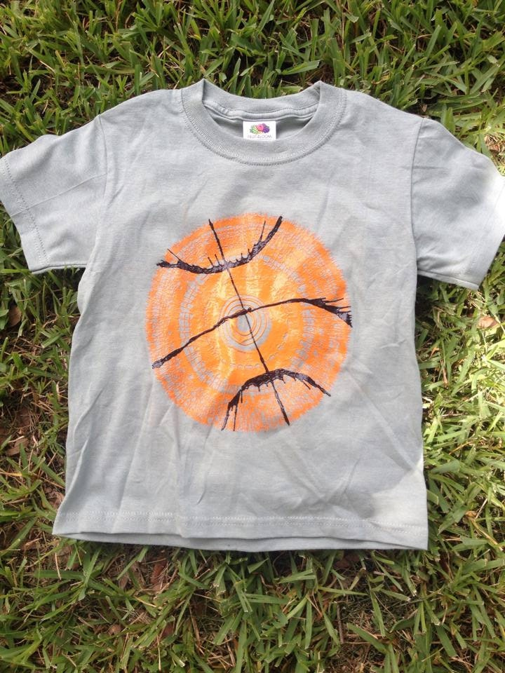 Custom Basketball Spin Art T-Shirt