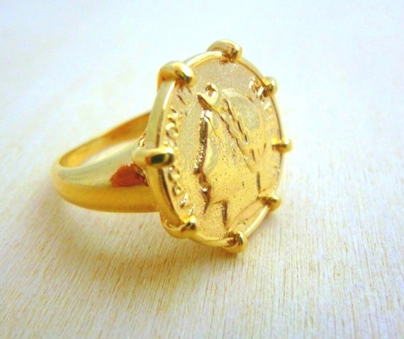 Coin Ring Gold Filled gold coin ring Coin Jewelry t for