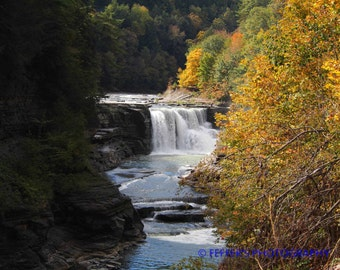 Letchworth State Park NY Digital photography 8x10 or 5x7 Fine Art Print - Fall decor wall art