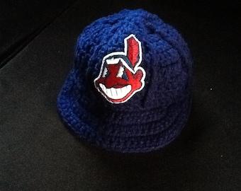 Cleveland Indians Newborn Crochet Baseball Cap - Photographer Prop