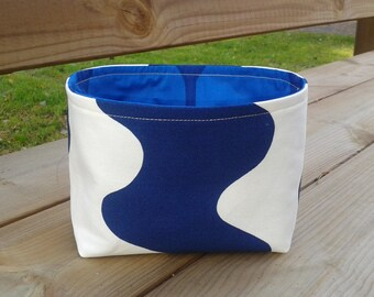 Fabric Basket, Organizer, Bin, Storage, Container made from Marimekko fabric, stocking stuffer, Scandinavian design