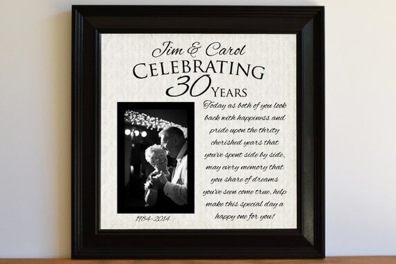 30th Wedding Anniversary Gift Ideas For Wife : 30th Wedding Anniversary Gift Ideas For Parents uniquesharabooks ...