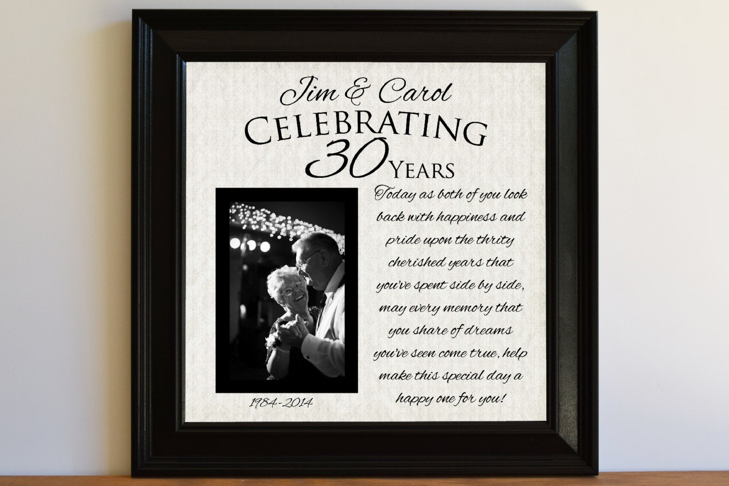 Gift For 30 Wedding Anniversary: Wedding Anniversary Gift 30th Wedding Anniversary Gift