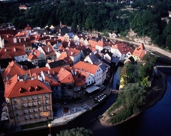 UNESCO World Heritage Listed town of Cesky Krumlov, Czech Republic.