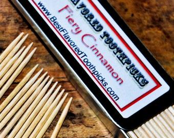 Cinnamon Toothpicks, Flavored Toothpicks, Dental Toothpicks, Toothpick, Fancy Toothpicks, Party Toothpicks - 70+ Flavors