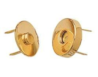 "Magnetic Bag Clasp Brass Plate 3/4"" 1299-00"