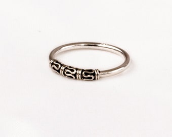 Vintage Silver ring.   Very fine design.