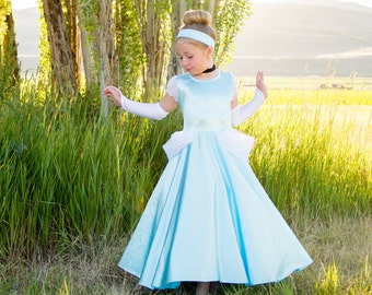 Classic Cinderella dress! Soft, Stretchy, Non itchy, machine washable. High quality fabric &workmanship.  Petticoat is sold separately!