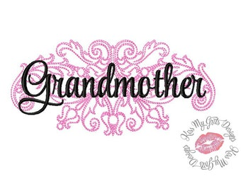 Grandmother Damask  Machine Embroidery Design