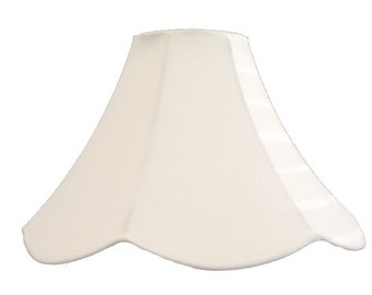 White Scalloped Bell Table-Lamp SHADE Perfect for Decorating- small size