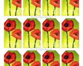 Poppy Hang Tags Printable Digital Collage Sheet