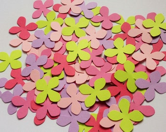 100 Spring Colour Hydrangea Die Cuts Punches Confetti