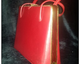 Vintage Candy Apple Red Snap Purse