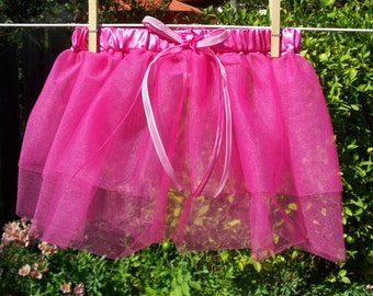 Pink Tutu Skirt with Satin Waistband and Bow, size 5 Years