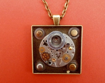 Unique Wearable Art Using Upcycled Watch Parts. Handmade in the UK.