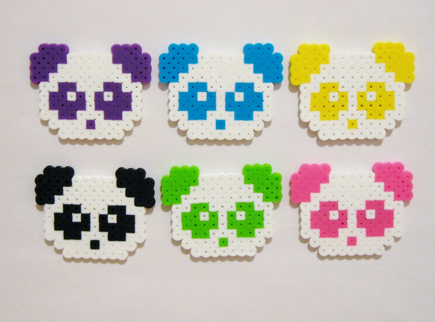 6pc Pandas Magnet Set Kawaii Animals Colorful Panda Bears
